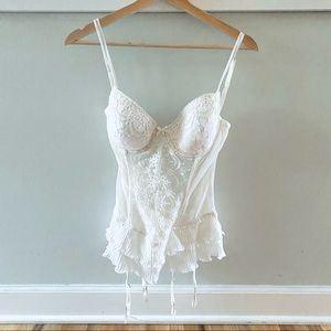 In Bloom by Jonquil Ivory Lace Teddy Lingerie NWT
